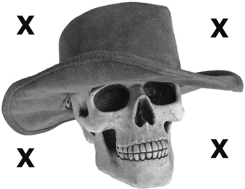 Skull stencil for airbrushing- Skull with cowboy hat airbrush stencil ppp