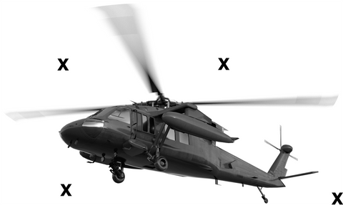 UH-60 Black Hawk helicopter - Airbrush Stencils