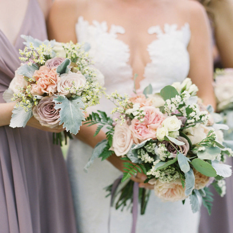 How to make your own bridal bouquet with fresh flowers