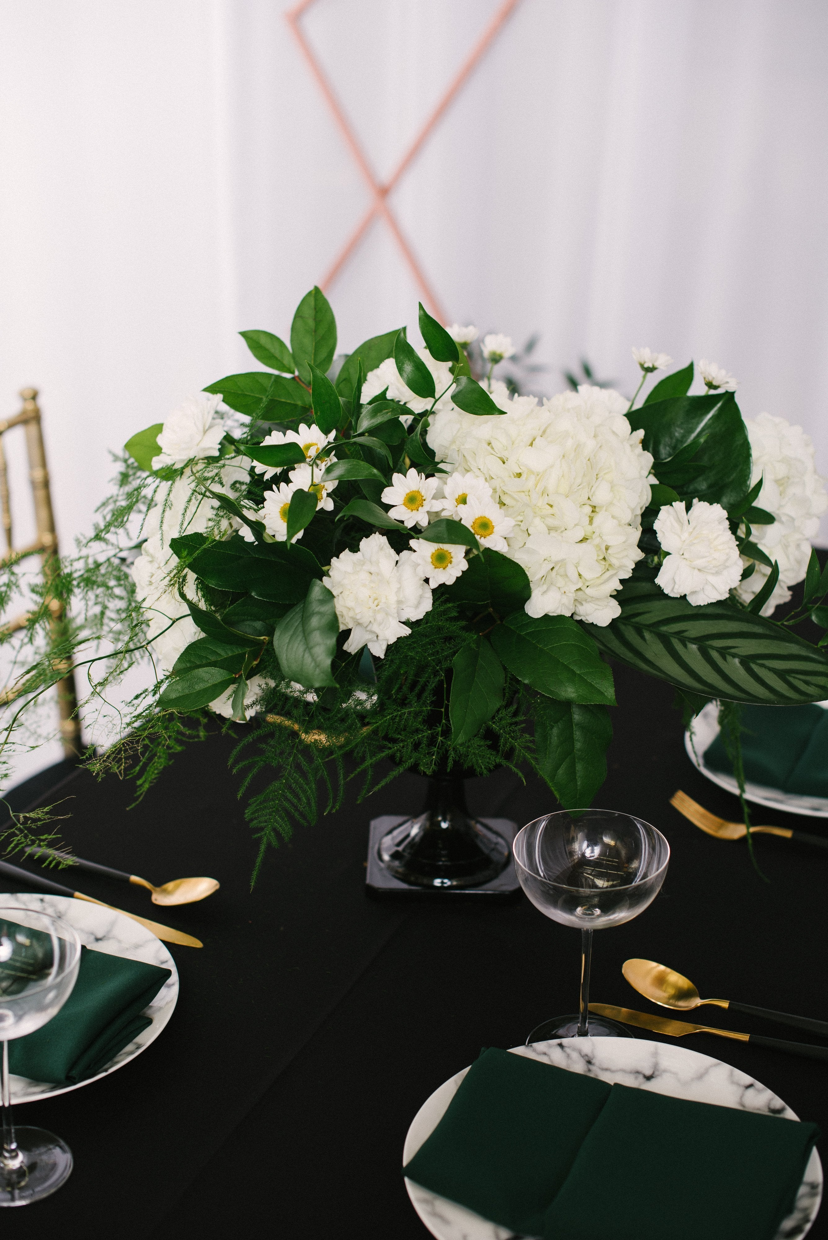 Black Urn Large Centerpiece