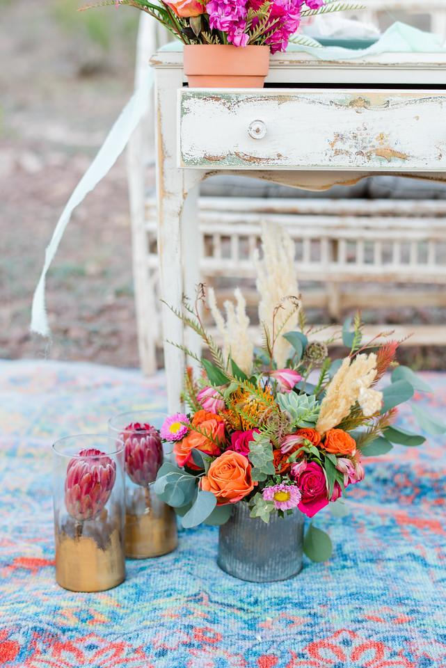 Centerpiece - Galvanized Tin Vase