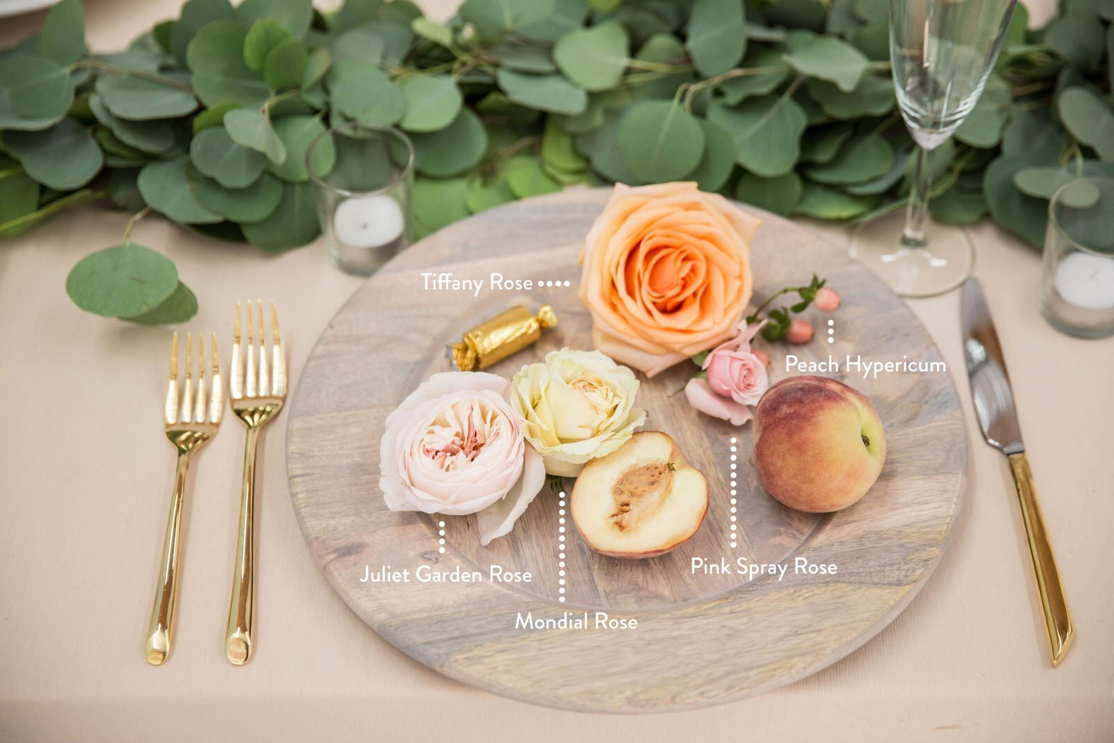 Peach Theme Flowers