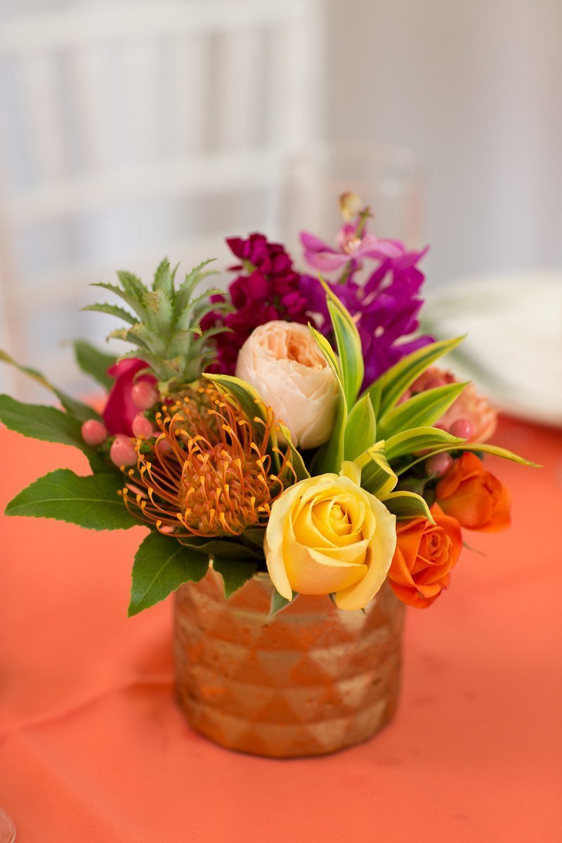 Gold Pineapple Centerpiece
