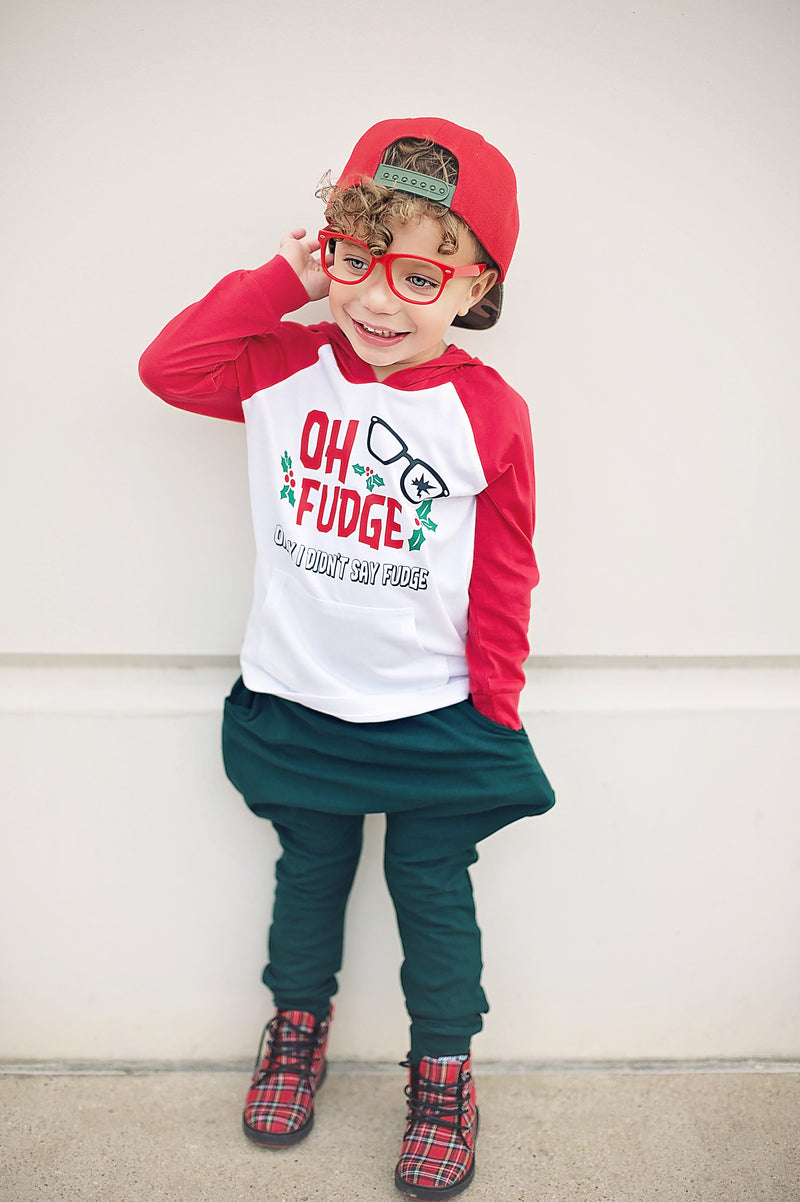 Oh Fudge Kids/Youth Red Pullover - The Modern Rebels