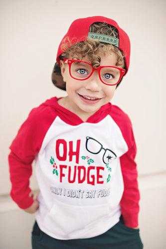 Oh Fudge Red Kids/Youth Pullove Pocket Hoodie