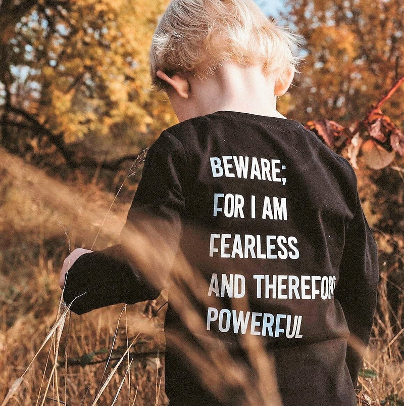 "Frankenstein ""Beware for I am fearless"" Kids Shirt"