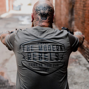 "The Modern Rebels ""Exist on your own terms"" Men's T-Shirt - Military"