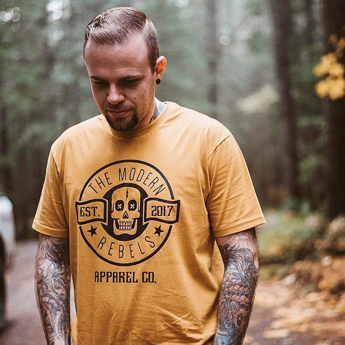 The Modern Rebels Logo Men's T-Shirt - Mustard