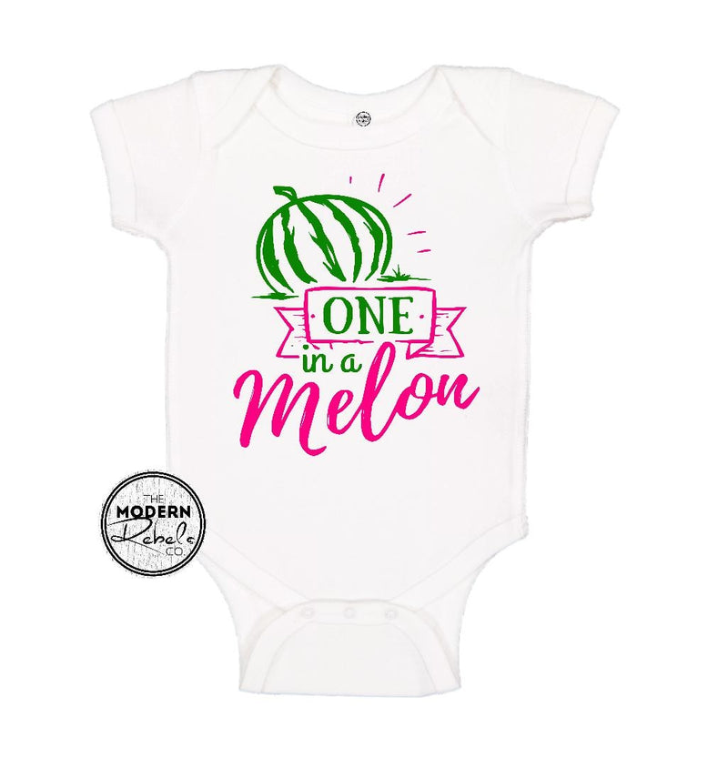 One in a melon Baby Bodysuit - The Modern Rebels