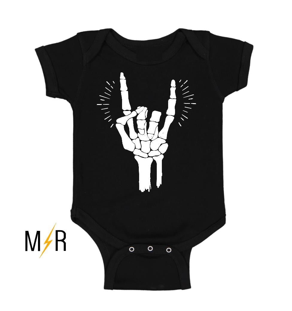 Rock and Roll Skellie Baby Bodysuit - The Modern Rebels