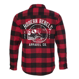 Skellie Red Buffalo, Adult Unisex Flannel