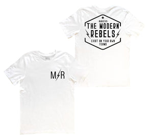 "The Modern Rebels ""Exist on your own terms"" Men's T-Shirt - White"