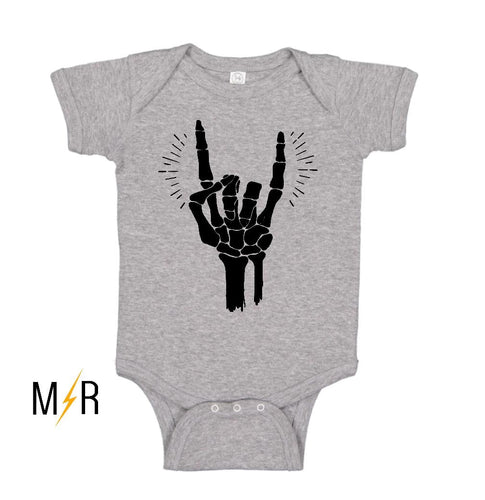 Rock and Roll Skellie Baby Bodysuit