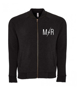 Modern Rebels Logo Unisex Bomber Jacket - Eco Black