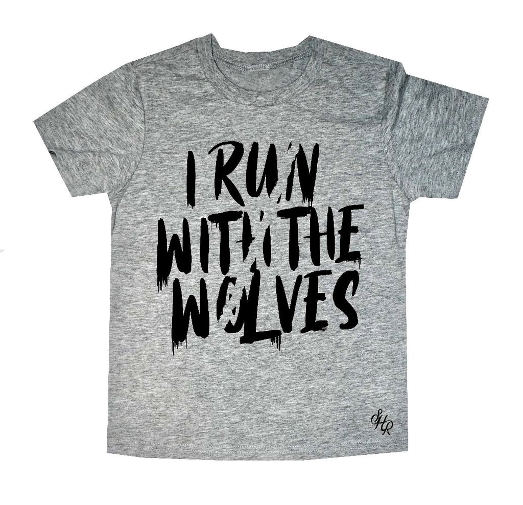I run with the wolves Kids Tee
