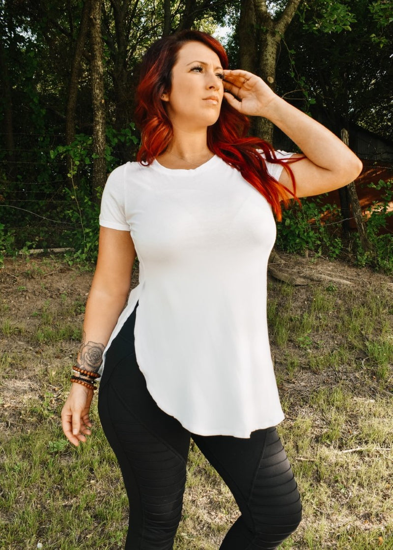 Bianca Scoop Hem Top