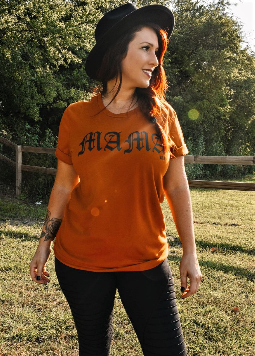 "Limited Edition ""Mama"" Tee in Autumn Sunset"