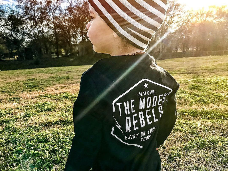 "Modern Rebels ""Exist on your own terms"" Long Sleeved Kids/Youth Shirt - The Modern Rebels"