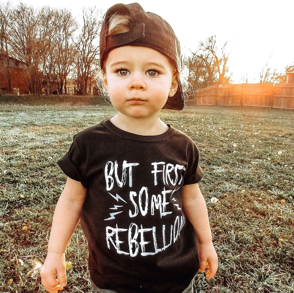 But first, some rebellion Kids Tee