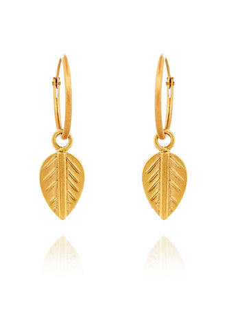 GOLD PLATED logo leaf earring EXCLUSIVE TO VINNIE DAY