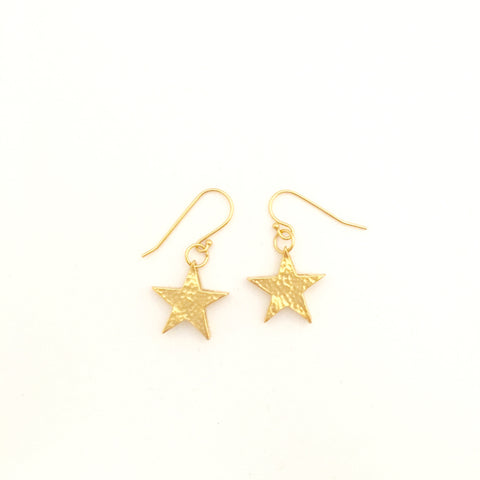 Planetary star Earrings - Gold Plated
