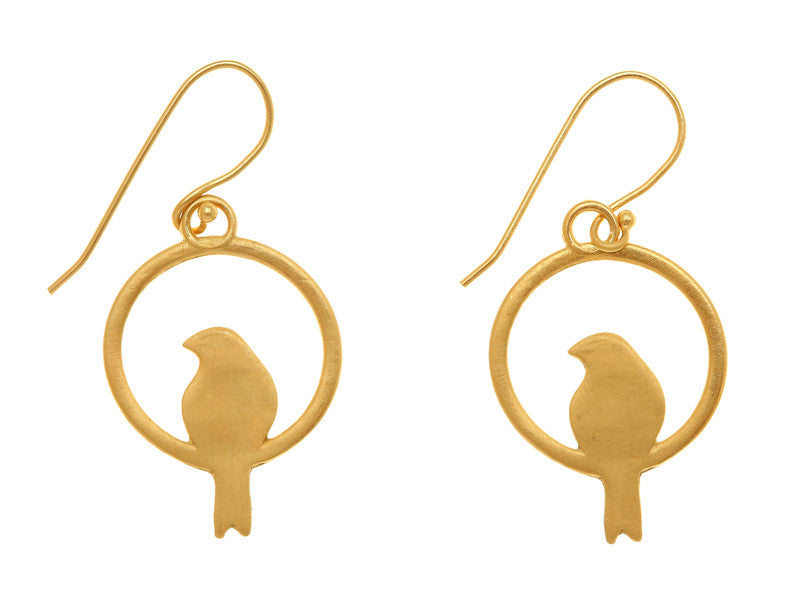Bird Earrings in GOLD PLATED