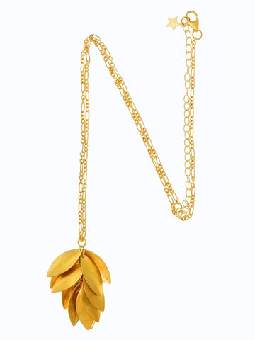 Jingly Shell Necklace Gold Plated