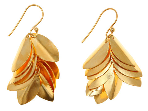 Jingly Shell Earring Gold Plated