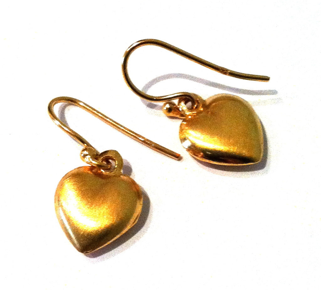 Gold Plated Simple Heart Earrings EXCLUSIVE TO VINNIE DAY