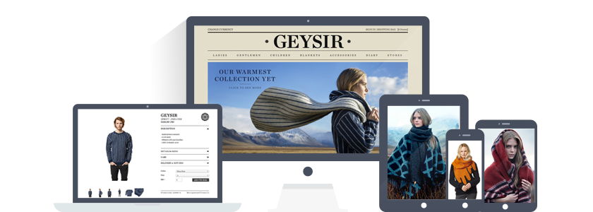 Geysir - high end Icelandic knitwear using Shopify ecommerce store