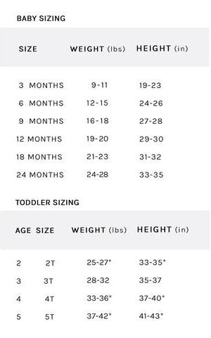 handy sizing guide