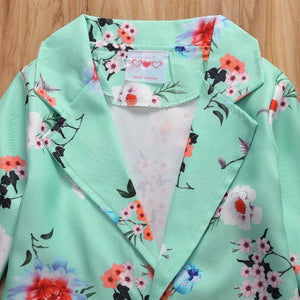 Floral Cardigan with Shorts