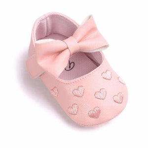 Love Heart Bow Shoes
