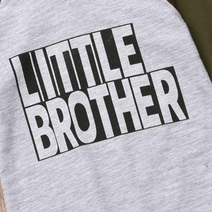 Little Big Brother Matching Romper & Hoodie
