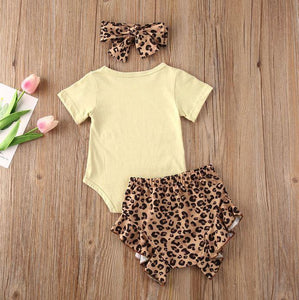 Hey Baby Leopard Print Outfit