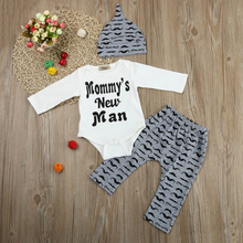 Mommys New Man Outfit White/gray / 3 Mo Set