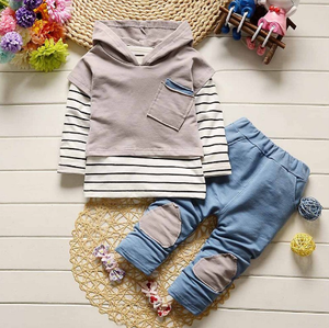 Striped Hooded Sweater Pants Outfits (Multiple Colors) - Bitsy Bug Boutique