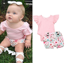 Pink Romper + Shorts - Bitsy Bug Boutique