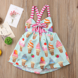 Ice Cream Dress Multi / 12 Mo Dresses