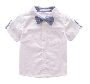 Gentleman Bow Tie Short Sleeve Shorts Outfit Set