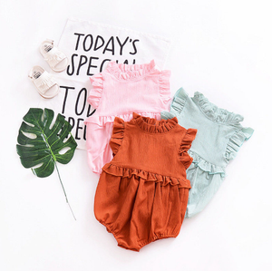 Ruffle Romper (Multiple Colors) - Bitsy Bug Boutique