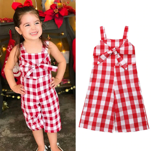Red Checkered Jumpsuit - Bitsy Bug Boutique