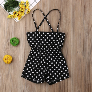 Polka Dot Romper - Bitsy Bug Boutique