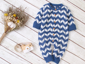 Pattern Sleeved Onesie - Bitsy Bug Boutique