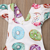 Donut Ruffle Sleeved Romper with Headband - Bitsy Bug Boutique