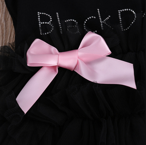 Little Black Dress Tutu Romper