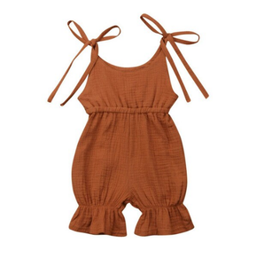 Sleeveless Ruffle Short Romper