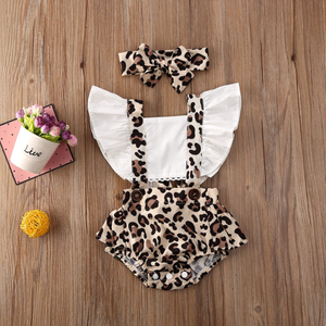 Leopard Romper with Headband