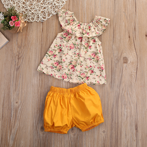 Floral Ruffle Top & Shorts
