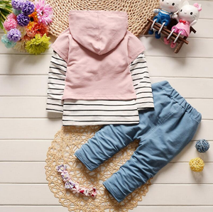 Striped Hooded Sweater Pants Outfits (Multiple Colors)